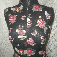 SALE.. Boutique Dress Form Display. Layaway available, Heart tattoo