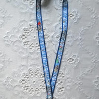 Preppy Nautical Get Nauti Lilly Pulitzer Fabric Lanyard