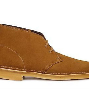 Clarks Original Mens Desert Boots Brown/Bronze Suede 26109885