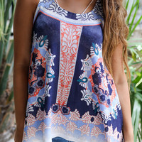 Paradise Beach Sleeveless Navy Knit Top