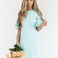 Mint Ruffle Dress - JessaKae