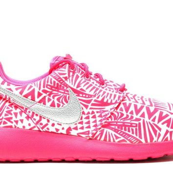"Nike Roshe Run Print ""White/Pink"" (GS)"