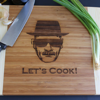 Breaking Bad cutting board, Let's Cook (set of 4)
