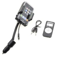 NEEWER Apple iPod iPhone Accessories. Wireless FM Transmitter with remote and Car Charger for Apple iPod Touch iPod Classic and APPLE iPhone 4. Full Range Frequency:Amazon:Cell Phones & Accessories