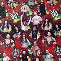 WWE Wrapping Paper Christmas Gift Wrap (1 Roll, 70 Sq. Ft.)