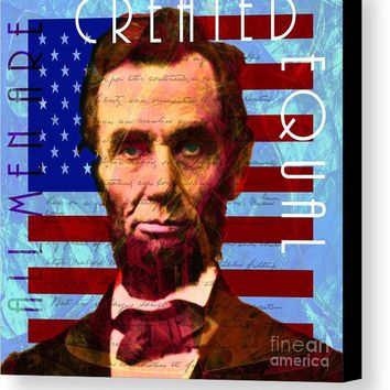 Abraham Lincoln Gettysburg Address All Men Are Created Equal 20140211p180 Canvas Print