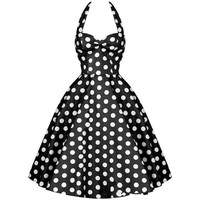 Summer Style Retro Audrey Hepburn Vestidos Woman Vintage 60s 50s Dress Big Swing Polka Dot Backless Rockabilly Dress Plus Size Alternative Measures - Brides & Bridesmaids - Wedding, Bridal, Prom, Formal Gown