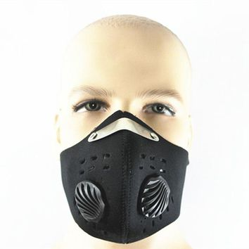 Cycling Mask Pm2.5 Carbon Windproof Sports Dust Protective Smog Filters Face Training Masks