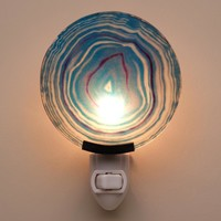 Blue Agate Glass Nightlight