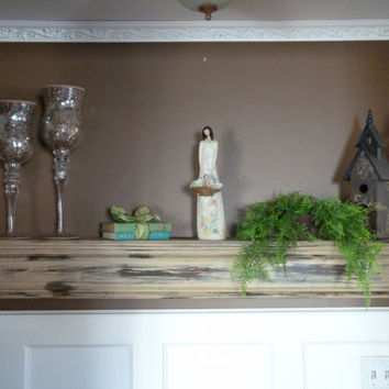 Ready To Ship, Rustic Brown Tan Mantle, Floating Shelf, Wall Hanging, Fireplace Mantel, Farmhouse Style Decor