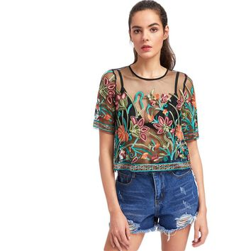 Sexy Blouses for Women Buttoned Keyhole