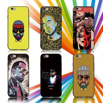 FATPERSON Best case For iPhone X 10 5 5S SE 6 6S 7 8 Plus Kanye Omari West Cover For Samsung Galaxy S8 S9 S7 edge Phone shell