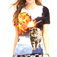 Action Cat Women's T-Shirt