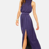 Blaque Label Fire Me Up Indigo Blue Maxi Dress