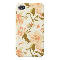 Floral Pattern Phone Case iPhone 4 Case from Zazzle.com
