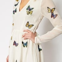ASOS Mini Skater Dress with Butterfly Embroidery