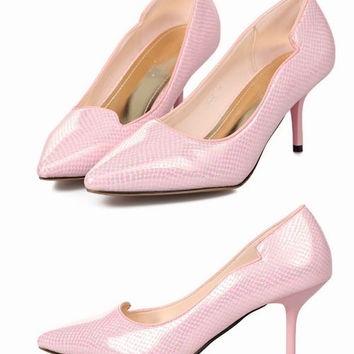 Lovely beauty style Elegant All match high-heeled shoes #66776