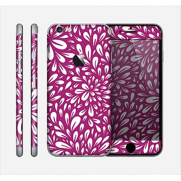 The Purple & White Floral Sprout Skin for the Apple iPhone 6