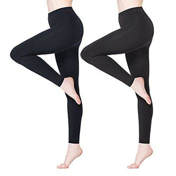 BONAS Womens Thermal Leggings Fleece Lined Casual Seamless Athletic Tights