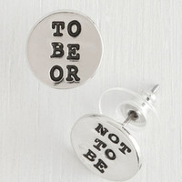 ModCloth Scholastic Whether Tis Nobler Earrings