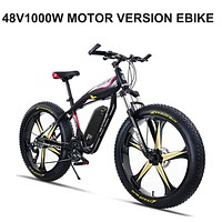 Electric Mountain Bike with Snow Tires