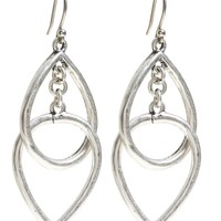 Lucky Brand Double Tear Drop Earring Womens - Medium Gray (One Size)