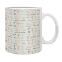 Allyson Johnson Peachy Arrows Pattern Coffee Mug