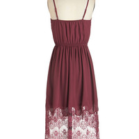 ModCloth Short Length Spaghetti Straps High-Low Hem Fabulous Flutter Dress