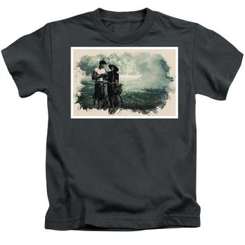 Watercolor Conseptual Landscape - Deep In The Forest - Kids T-Shirt