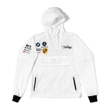 ONETOW Club Foreign Germany Windbreaker in White / White