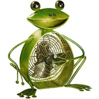 Frog Figurine Table Fan