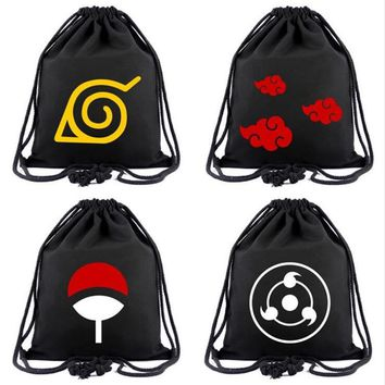 Cool Attack on Titan Anime Bag NARUTO Drawstring Bag Tokyo Ghoul Backpack One Piece  cARTOON Travel Bags Mochila Shoulders Bag AT_90_11