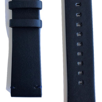 Movado BOLD Dark Blue Leather 22mm Watch Band Strap with Buckle