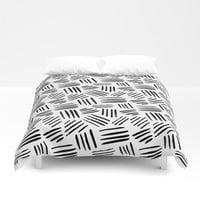black mudcloth Duvet Cover by Sylvia Cook Photography