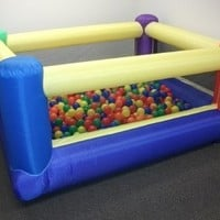 "My Bouncer Perfect Little Ball Pit - Perfect Size for Indoor Use - measured 84"" L x 72"" W x 40"" H Popper w/ Blower Pump (Other Models & Sizes Available, Sold thru separate Amazon Listings)"