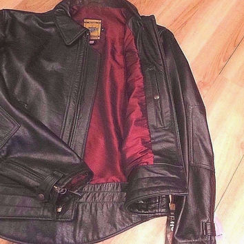 NEW Schott Nyc Leather Veili Jacket  Black 585  MADE IN USA    New/ W/tags