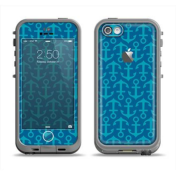 The Blue Anchor Collage V2 Apple iPhone 5c LifeProof Fre Case Skin Set
