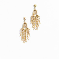 J.Crew Womens Pavé Droplet Chandelier Earrings