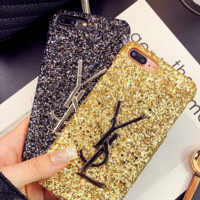 YSL Applies to Apple 7 Sequin I6 Phone Case iphone 7plus shining 6plus
