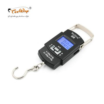 Portable Spring Scale LCD Portable Scales WeigHeng 50kg Mini Largest Fishing Scale Division Value 0.005kg Fishing Tackle Boxes