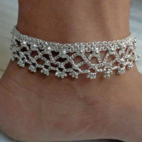 anklet,indian anklet,foot chain,bellydance jewelry,gypsy foot jewelry,slave anklet,ankle bracelet,chain anklet,ethnic indian anklet