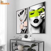 Wall Art Canvas Painting Fashion Model Girl Nordic Wall Pictures For Living Room Home Decor Posters And Prints Salon Bedroom Kid
