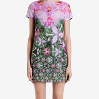 Geometric floral tunic dress - Dark Green | Dresses | Ted Baker