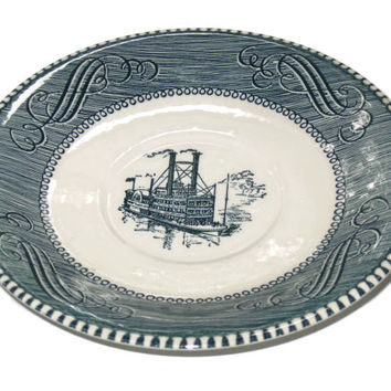 Vintage Riverboat Plate, Rustic Decor, Country Plate, Home Decor, Collectible Plate, Steamboat Plate, Kitchen Decor
