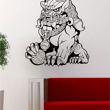 Foo Dog Version 2 Tattoo Art Chinese Decal Sticker Wall Vinyl Decor