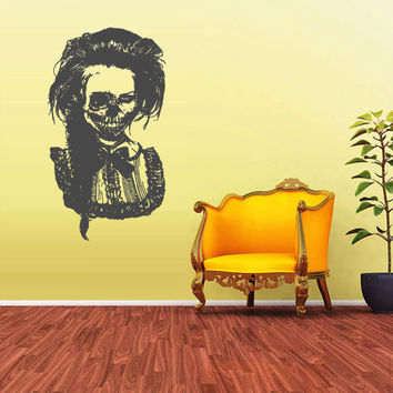 Wall Vinyl Sticker Decals Decor Art Bedroom Design Mural Zomby Skull Girl Horror Girl halloween (z1941)