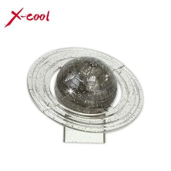 2 color 3D Saturn Crystal Puzzle Three-dimensional Planet Puzzles Kids Toys xmas Gift Home Decoration gift for friend