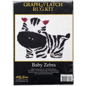 "Baby Zebra Latch Hook Kit 26""X20"""