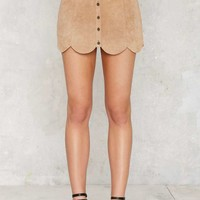 Noah Suede Mini Skirt - Beige
