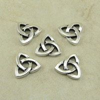 TierraCast Rivetable Celtic Open Triad Knot Link Charms - Triquetra Silver Plated Lead Free Pewter - I ship internationally 5796